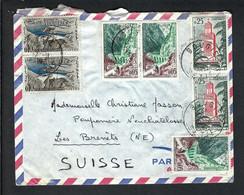 ALGERIE 1972: LSC Par Avion De Bougie (Sétif) Pour La Suisse Affr. Tricolore - Argelia (1962-...)