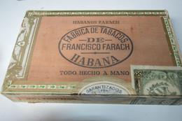Rare Boite En Bois à Cigares Marque Francisco Farach Habana Cuba   Format 21 X 13 X 4 Cm - Other