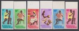 Togo 1966  N° 495 - 498 + PA 57 - 58    Artisanat  Imperf  ** MNH - Togo (1960-...)