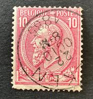 Leopold II OBP 46 - 10c Gestempeld EC ALKEN - 1884-1891 Leopoldo II