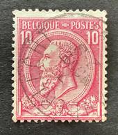 Leopold II OBP 46 - 10c Gestempeld EC ANDERLECHT - 1884-1891 Leopoldo II