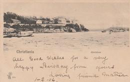 Norway Postcard Christiania Akershus 1906 - Norway