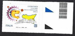 Italia 2021; Leontinoi, Anniversario Della Fondazione: Francobollo Di Bordo Destro. - 2011-...: Mint/hinged