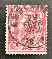 Leopold II OBP 46 - 10c Gestempeld EC ANSEGHEM - 1884-1891 Leopoldo II