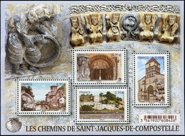 FRANCE 2015 - BLOC F4949 MNH ** - LES CHEMINS DE SAINT-JACQUES DE COMPOSTELLE 2015 (peit Prix - De 40% Côte) - Nuevos