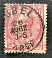 Leopold II OBP 46 - 10c Gestempeld EC AUBEL - 1884-1891 Leopoldo II