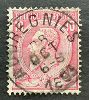 Leopold II OBP 46 - 10c Gestempeld EC AUDREGNIES - 1884-1891 Leopold II