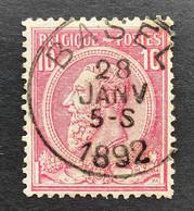 Leopold II OBP 46 - 10c Gestempeld EC BASEL - 1884-1891 Leopoldo II