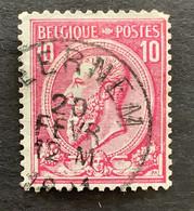 Leopold II OBP 46 - 10c Gestempeld EC BEERNEM - 1884-1891 Leopoldo II