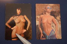 2 Items Lot / Spanish CALENDRIER DE POCHE EROTIQUE FEMME NU- Pretty Girl - POCKET Calendar -2001- Erotic - SEXY - NUDE - Small : 2001-...