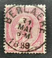 Leopold II OBP 46 - 10c Gestempeld EC BERLAERE - 1884-1891 Leopoldo II
