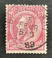 Leopold II OBP 46 - 10c Gestempeld EC BERNISSART - 1884-1891 Leopoldo II