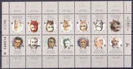 Israel 1996 - Mi.Nr. 1369- 1382 Zusammendruckbogen - Postfrisch MNH - Unused Stamps (with Tabs)