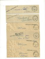 Lot De 6 Colliers De Sacs Postaux Ambulants Des Années 50 - 1921-1960: Periodo Moderno