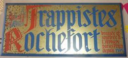 """ANCIENNE PUBLICITE """"TRAPPISTES ROCHEFORT """"brassée à LA BRASSERIE De L' ABBAYE De ROCHEFORT  ,voir Les 3 Scans ! - Liquor & Beer"""