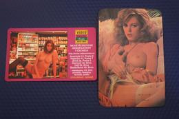 2 Items Lot / Spanish CALENDRIER DE POCHE EROTIQUE FEMME NU- Pretty Girl - POCKET Calendar -1985- Erotic - SEXY - NUDE - Small : 1981-90