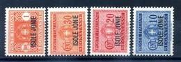 1941 ISOLE JONIE Segnatasse 1/4 Serie Completa MNH ** - Isole Jonie