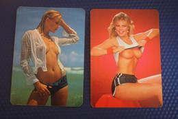 2 Items Lot / Spanish CALENDRIER DE POCHE EROTIQUE FEMME NU- Pretty Girl - POCKET Calendar -1983- Erotic - SEXY - NUDE - Small : 1981-90