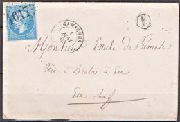 Lettre Du  1 Mai 1865,  Gamaches, GC  1617,  Département 76 - 1849-1876: Klassik