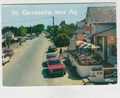 SAINT GERMAIN SUR AY RUE DE LA MER CAFE BAR JOURNEAUX CPSM GM TBE - Sonstige Gemeinden