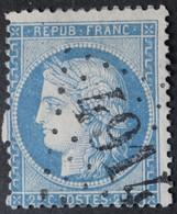 60A Variété Blondzähn, Obl BUREAU SUPPLEMENTAIRE GC 4914 Anould (82 Vosges ) Ind 9 - 1849-1876: Periodo Clásico