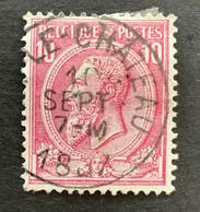 Leopold II OBP 46 - 10c Gestempeld EC BRAINE LE CHATEAU - 1884-1891 Leopoldo II