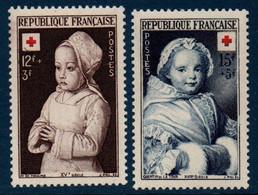 FR 1951  Croix-Rouge : Portraits D'enfants  N°YT 914-915 ** MNH - Ohne Zuordnung