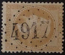 28B (cote 8 €) Pli, Obl BUREAU SUPPLEMENTAIRE GC 4917 Cournonterral (33 Hérault ) Ind 9 - 1849-1876: Periodo Clásico