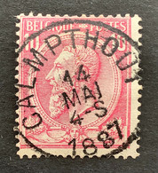 Leopold II OBP 46 - 10c Gestempeld EC CALMPTHOUT - 1884-1891 Leopoldo II
