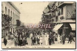 CPA Deauville La Plage Fleurie La Rue Gontaut Brion - Deauville