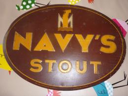 """ANCIENNE PUBLICITE """" NAVY'S STOUT """" De LA BRASSERIE LA MARINE à BRUXELLES  - 1949 !!!voir Les 4 Scans ! - Liqueur & Bière"""