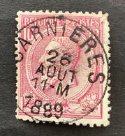 Leopold II OBP 46 - 10c Gestempeld EC CARNIERES - 1884-1891 Leopoldo II