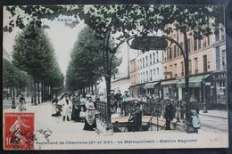 CPA Paris – Boulevard De Charonne 19 Et 20ème Arrondissements Le Métropolitain Station Bagnolet  –  –  Animée, A Voyagé - Sin Clasificación