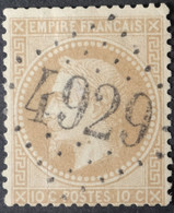 28A (cote 20 €) Obl BUREAU SUPPLEMENTAIRE GC 4929 Nersac (15 Charente ) Ind 7 - 1849-1876: Periodo Clásico