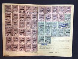 #CQ11 - CARTE QUITTANCE - TIMBRES FISCAUX - 1921 - Alsace Et Lorraine - Alsace-Lorraine