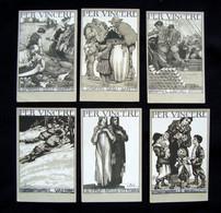 Sei Cartoline Per Vincere WW1 1918 Serie Completa Illustratore Bisi - Andere
