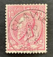 Leopold II OBP 46 - 10c Gestempeld EC CLAVIER - 1884-1891 Leopoldo II
