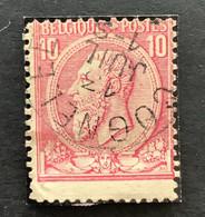 Leopold II OBP 46 - 10c Gestempeld EC COGNELEE - 1884-1891 Leopoldo II
