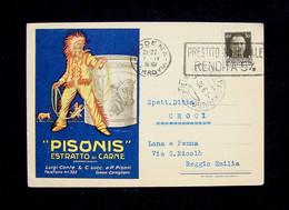 Cartolina  Pisonis Estratto Di Carne 1936 Viaggiata - Pubblicitari