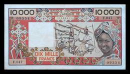# # # Ältere Und Seltene Banknote Aus Elfenbeinküste (Cote D'ìvory) 10.000 Francs # # # - West African States