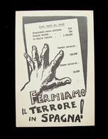 Cartolina Politica Fermiamo Il Terrore In Spagna 1950 Non Viaggiata - Zonder Classificatie