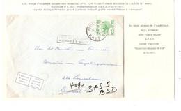 26REF/ TP M2 Baudouin Elström S/L. C.BPS 5 6/12/71 > BXL Ministerie Financiën C.Terug-Retour Label N'habite Plus Woont.. - Correo Militar