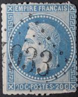 29B Déf, Obl BUREAU SUPPLEMENTAIRE GC 4933 Moyaux (13 Calvados ) Ind 16 - 1849-1876: Klassik