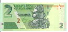 ZIMBABWE 2 DOLLARS 2019 UNC P New - Zimbabwe