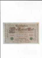 ALLEMAGNE - Billet  Vert  Du 21-04-1910 - 1000 Mark