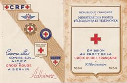 CARNET CROIX ROUGE 1954  100/100  NEUF  VOIR SCAN  TRES PETIT PRIX - Cruz Roja