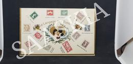 #CPA441 -  Le Langage Des Timbres - Couple Portrait Bisou Coeur Amour Amoureux - Stamps (pictures)