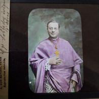 ARRAS - Rare Portrait Photo Couleurs De Mgr Lobbeday - Vers 1911 - Plaque De Verre - TBE - Plaques De Verre