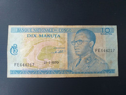 CONGO 10 MAKUTA 1970 - Unclassified