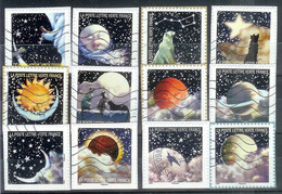 Superbe Série Adhésive Correspondances Planétaires 2016 Oblitérée TTB - Adhesive Stamps